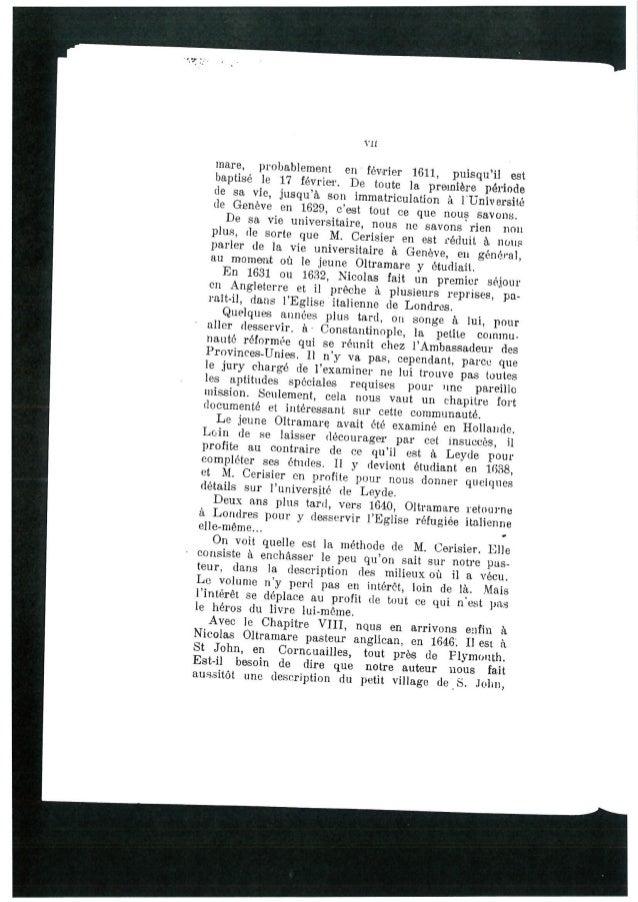 VII  mare,  probablement en féVrI'lE'I' 1611, puisqu'il est baptisé le 17 févrler.  De toute la premiere période de sa vie...
