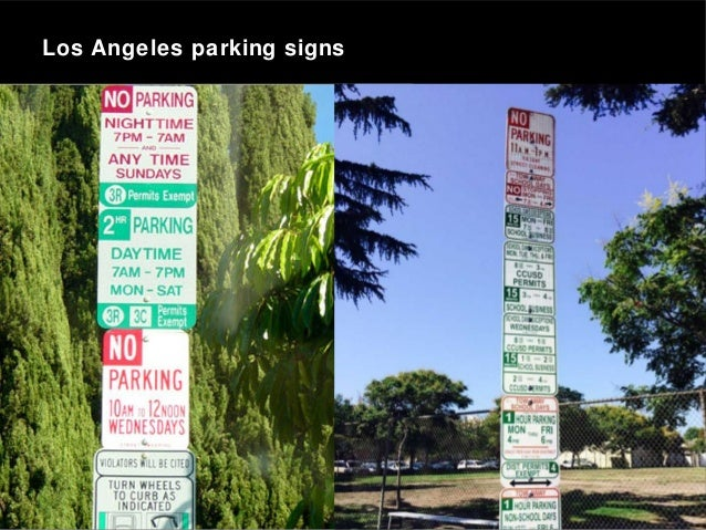 Los Angeles parking signs