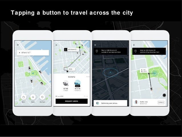 Tapping a button to travel across the city