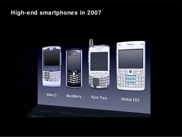 High-end smartphones in 2007