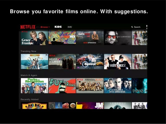 Browse you favorite films online. With suggestions.