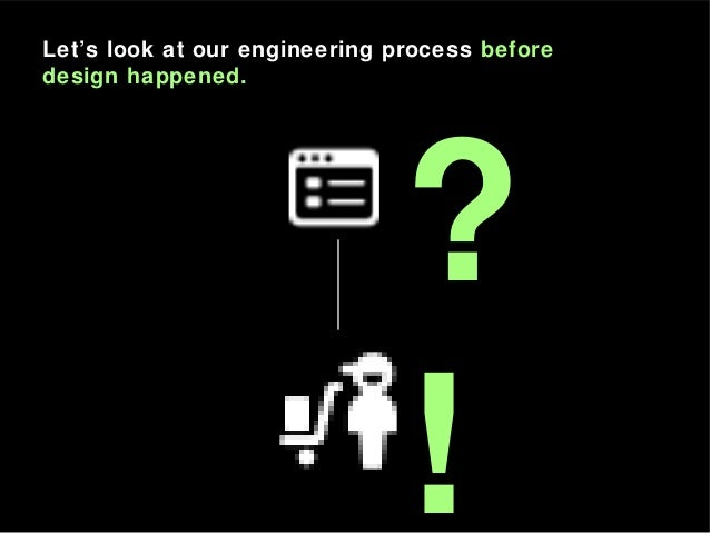 ? ! Let's look at our engineering process before design happened.