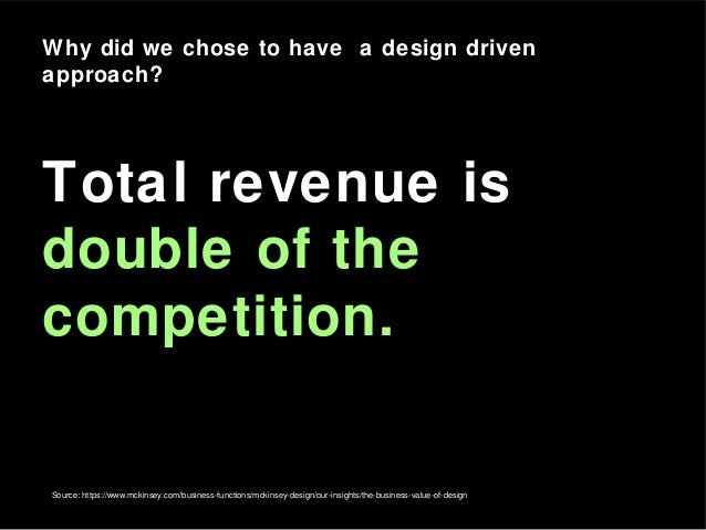 Source: https://www.mckinsey.com/business-functions/mckinsey-design/our-insights/the-business-value-of-design Total revenu...