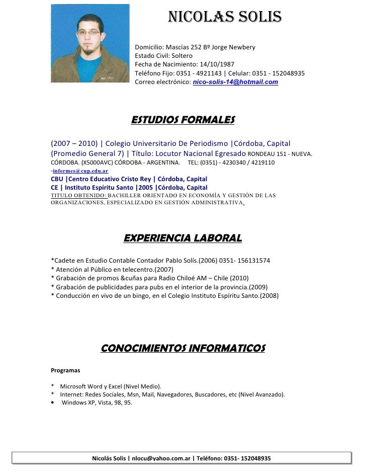 Nicolas Solis Cv Simple 1