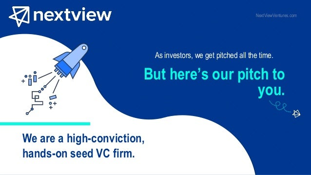 As investors, we get pitched all the time. We are a high-conviction, hands-on seed VC firm. But here's our pitch to you. N...