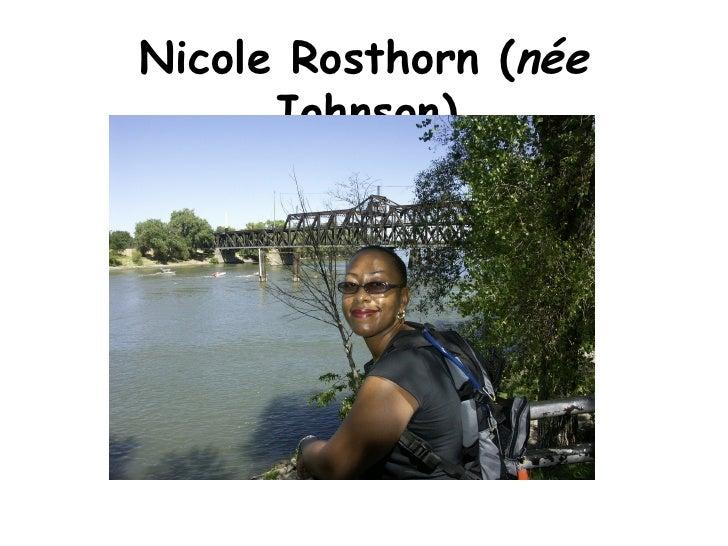 Nicole Rosthorn ( n é e  Johnson)