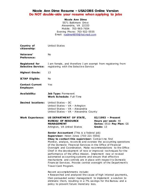 usa job resume builder