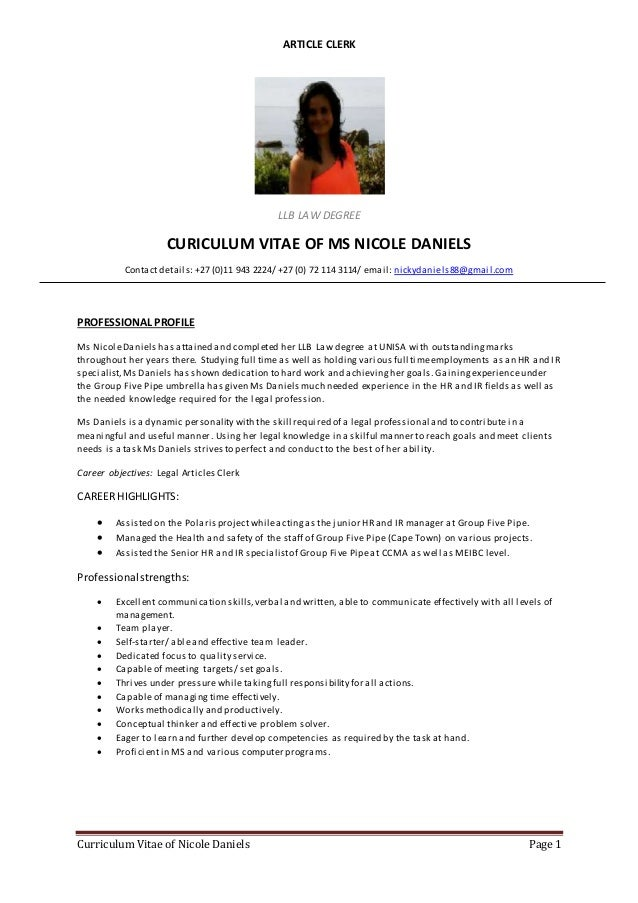 Daniels Dynamic Resumes Gallery Resume Format Examples 2018