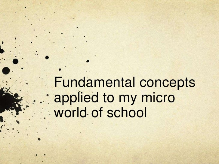 <li>Fundamental concepts applied to my micro world of school<br /></li><li>Society<br />The network of interaction and org...