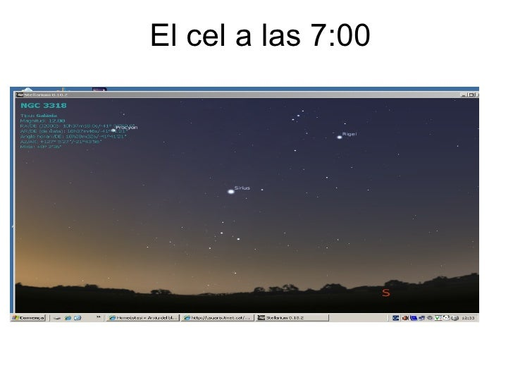 El cel a las 7:00