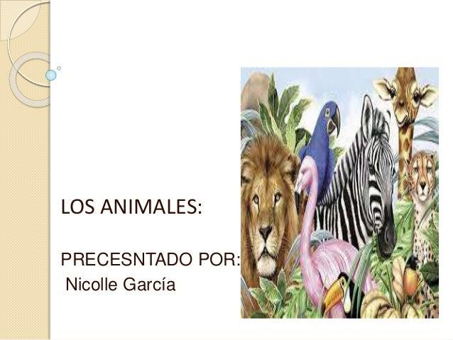 LOS ANIMALES: PRECESNTADO POR: Nicolle García