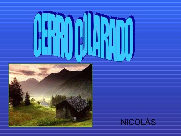 NICOLÁS CERRO COLARADO