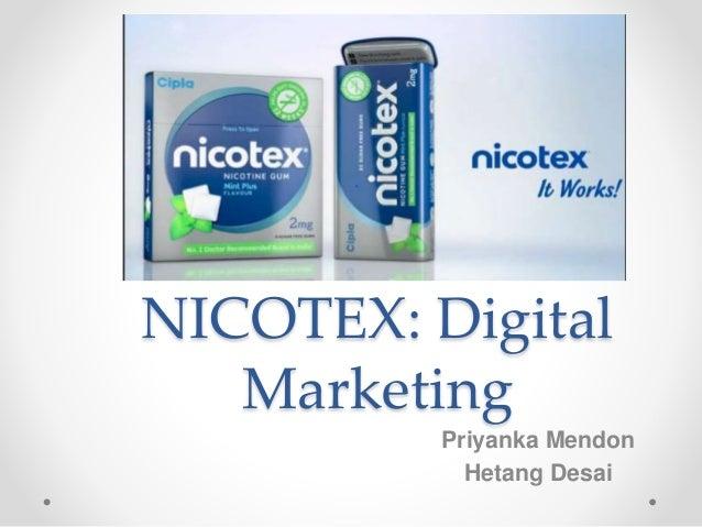 NICOTEX: Digital Marketing Priyanka Mendon Hetang Desai