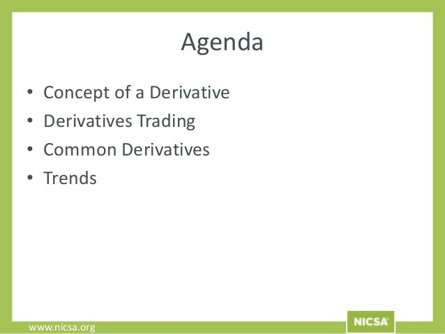Foundations in derivatives webinar - Derivatives middle office ...