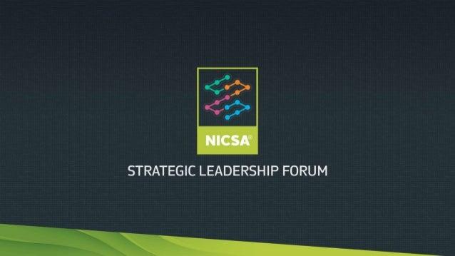 A Photo Recap 2014 NICSA Strategic Leadership Forum