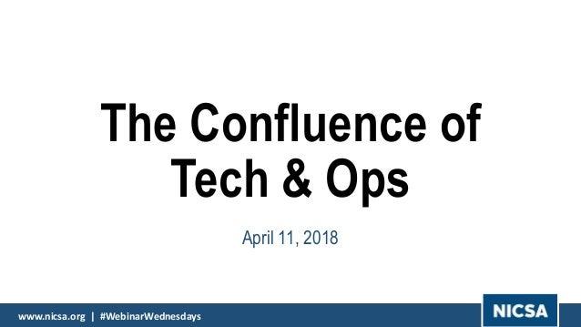 www.nicsa.org | #WebinarWednesdayswww.nicsa.org | #WebinarWednesdays The Confluence of Tech & Ops April 11, 2018 www.nicsa...