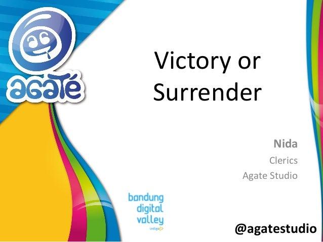 @agatestudio Victory or Surrender Nida Clerics Agate Studio