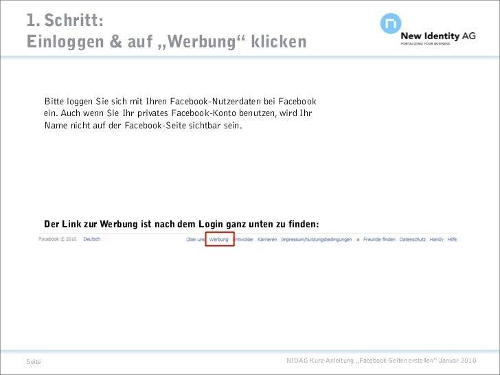 """1. Schritt: Einloggen & auf """"Werbung"""" klicken           Bitte loggen Sie sich mit Ihren Facebook-Nutzerdaten bei Facebook ..."""