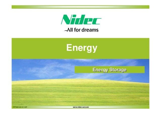 Energy Energy Storage  PPT2013.01.01.10IT  www.nidec-asi.com