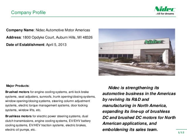 Nidec Automotive Motor Americas Impremedia Net