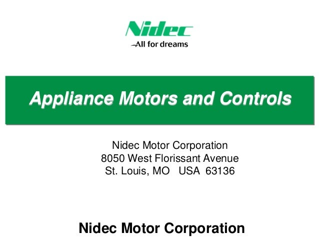 Nidec Motor Appliance Motors And Controls