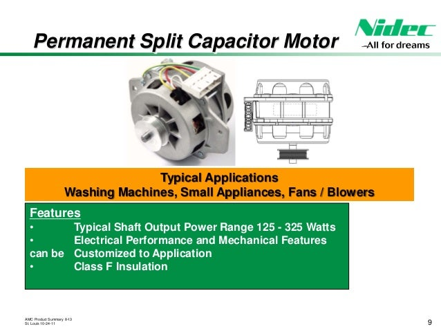 Nidec motor appliance motors and controls