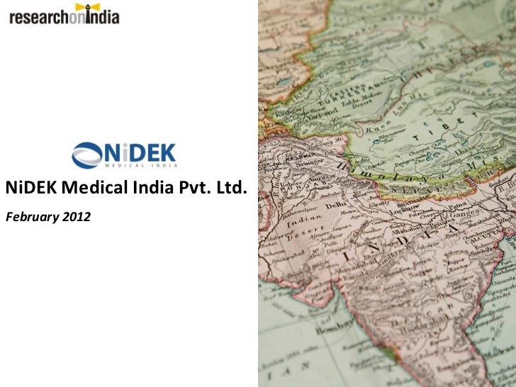 NiDEK Medical India Pvt. Ltd.February 2012