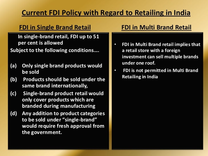 fdi in retail market in india Foreign direct investment in retail market in india: some issues and challenges  swarup santra and nidhi bagaria kalindi college, university.