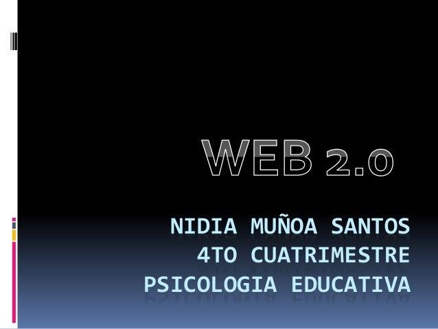 NIDIA MUÑOA SANTOS 4TO CUATRIMESTRE PSICOLOGIA EDUCATIVA