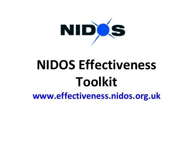 NIDOS Effectiveness Toolkit www.effectiveness.nidos.org.uk