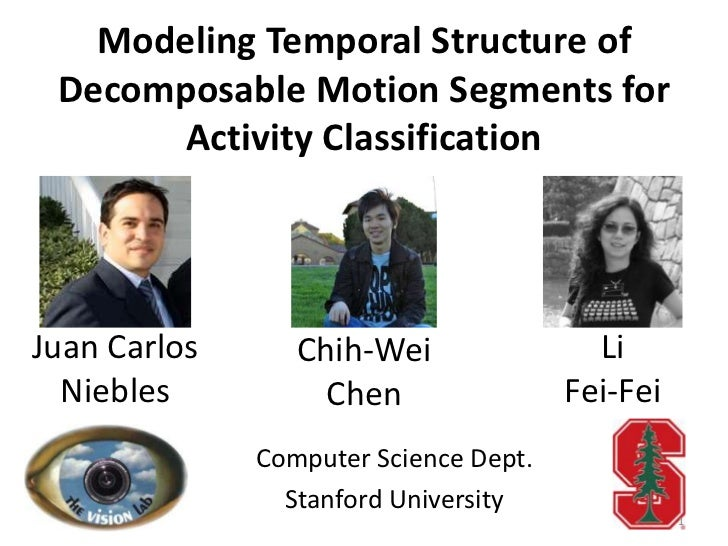 Modeling Temporal Structure of Decomposable Motion Segments for       Activity ClassificationJuan Carlos      Chih-Wei    ...