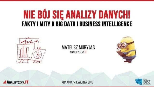 Mateusz Muryjas Analityczny.IT | IN Progress | #e-biznes festiwal Konsultant z zakresu analityki internetowej i wdrażania ...