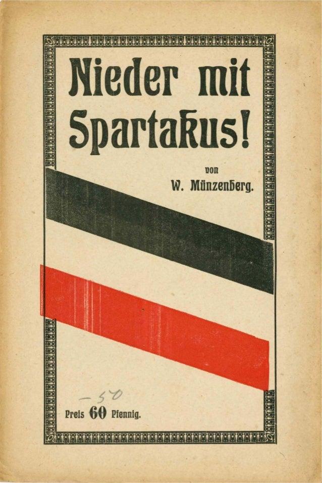 Nieder mit Spartakus