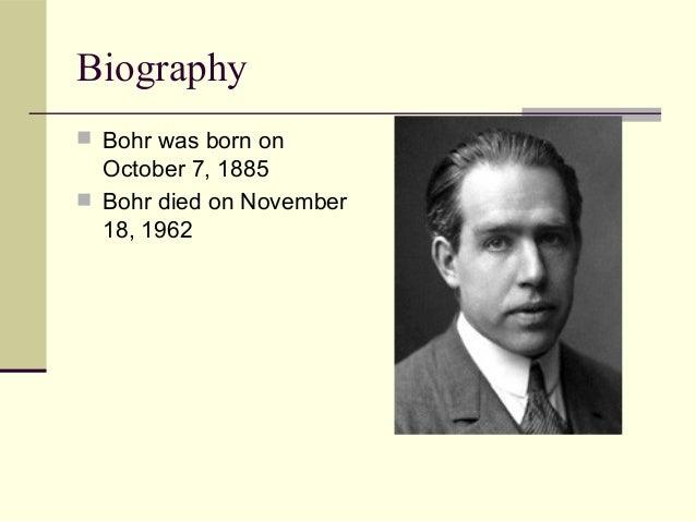 when was niels bohr born