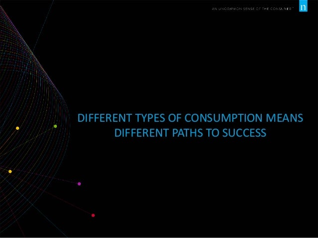 DIFFERENT TYPES OF CONSUMPTION MEANS DIFFERENT PATHS TO SUCCESS