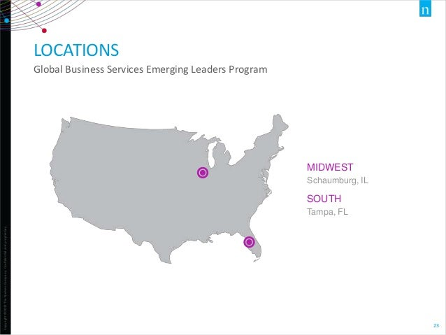 LOCATIONS Global Business Services Emerging Leaders Program  MIDWEST Schaumburg, IL  SOUTH Copyright ©2012 The Nielsen Com...