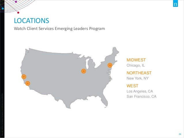 LOCATIONS Watch Client Services Emerging Leaders Program  MIDWEST Chicago, IL  NORTHEAST New York, NY  Copyright ©2012 The...