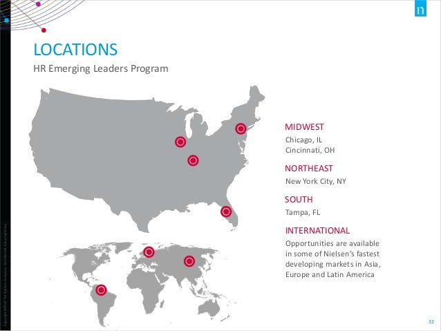 LOCATIONS HR Emerging Leaders Program  MIDWEST Chicago, IL Cincinnati, OH  NORTHEAST New York City, NY  SOUTH Copyright ©2...