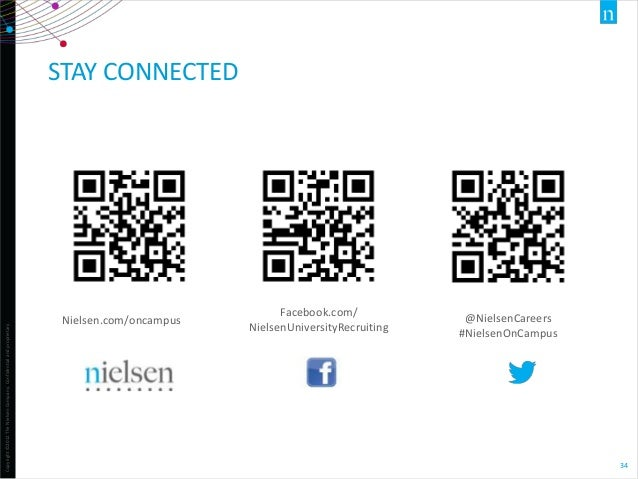 Copyright ©2012 The Nielsen Company. Confidential and proprietary.  STAY CONNECTED  Nielsen.com/oncampus  Facebook.com/ Ni...