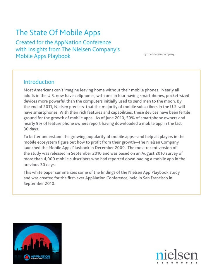 The State Of Mobile Apps Created for the AppNation Conference with Insights from The Nielsen Company's                    ...