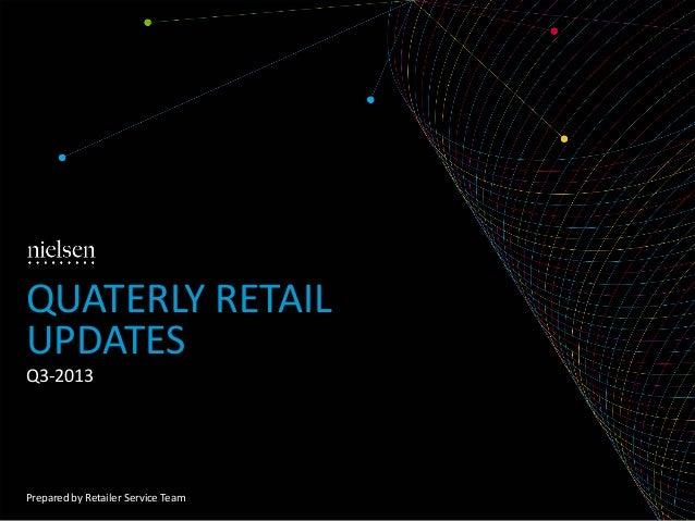 QUATERLY RETAIL UPDATES Q3-2013  Prepared by Retailer Service Team
