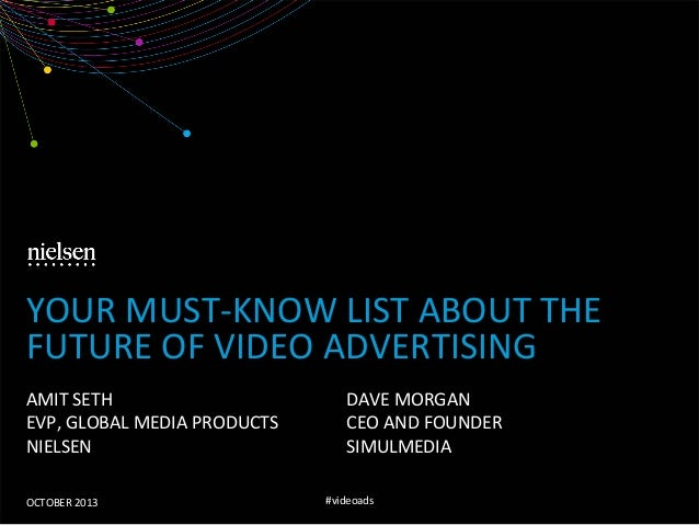 YOUR  MUST-‐KNOW  LIST  ABOUT  THE   FUTURE  OF  VIDEO  ADVERTISING   AMIT  SETH   EVP,  GLOBAL ...