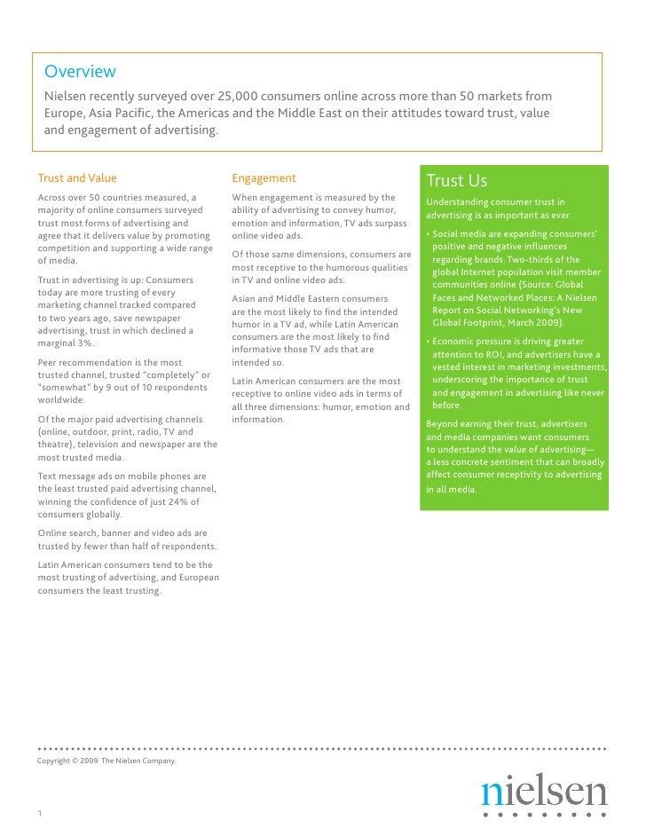 Nielsen Trust and Advertising Global Report July09 Slide 2