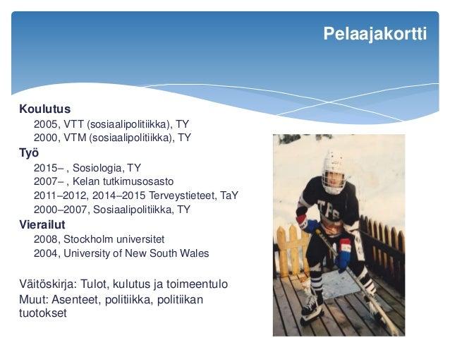 Rikkaat rikastuvat, köyhät köyhtyvät? Taloudellisen eriarvoisuuden muutos Suomessa Slide 2