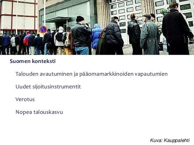 Varallisuuserojen kehitys - Suomi kansainvälisessä perspektiivissä Slide 3