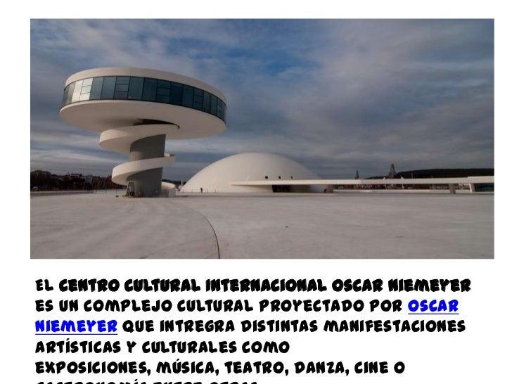 El Centro Cultural Internacional Oscar Niemeyeres un complejo cultural proyectado por OscarNiemeyer que intregra distintas...