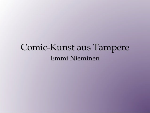 Comic-Kunst aus Tampere Emmi Nieminen