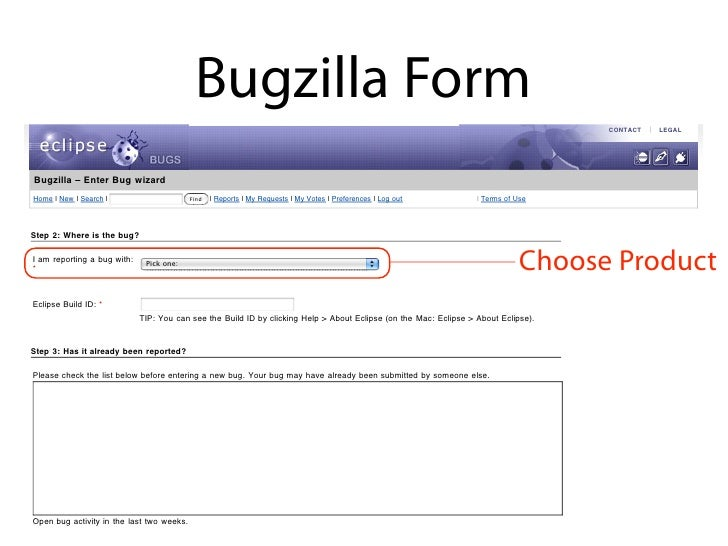 Bugzilla Form                                                                                                             ...