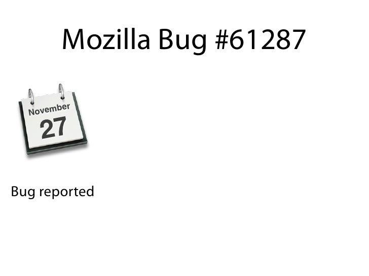 Mozilla Bug #61287            er   N ovemb       27  Bug reported