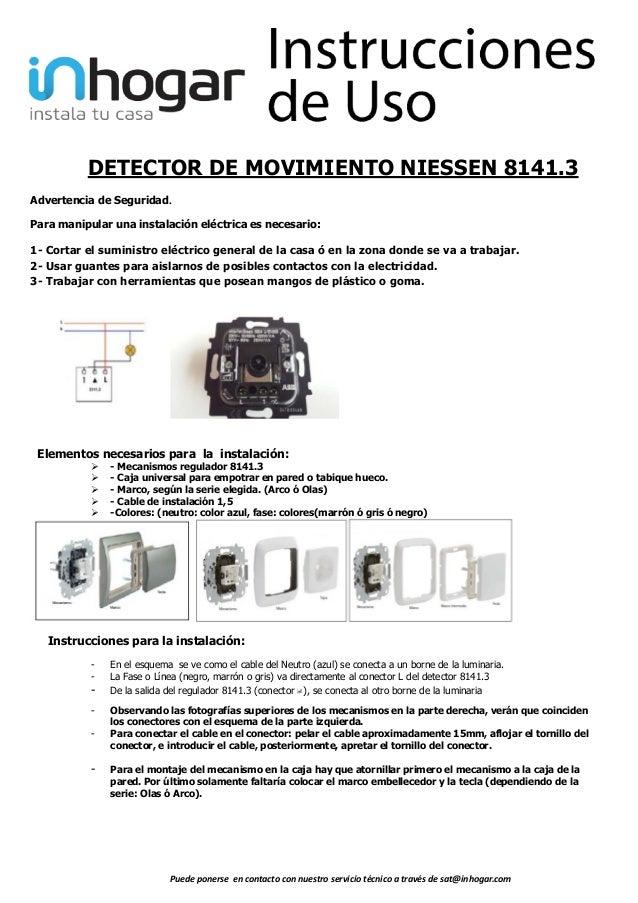 Detector de movimiento de dos hilos 8141.3 de Niessen